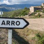 cartel nomenclator del pueblo de Arro