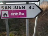 cartel nomenclátor del pueblo de San Juan de Toledo