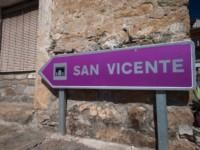 cartel nomenclator del pueblo de San Vicente de Labuerda
