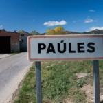 Cartel nomenclator Paúles de Sarsa