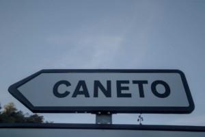 Cartel nomenclátor Caneto