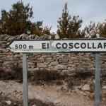 Foto Cartel nomenclátor El Coscollar