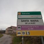 Foto Cartel nomenclátor Santa María de la Nuez