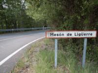 Cartel noménclator Mesón de Ligüerre