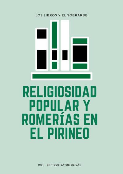 cartel libro religiosidad popular y romerias de 1991
