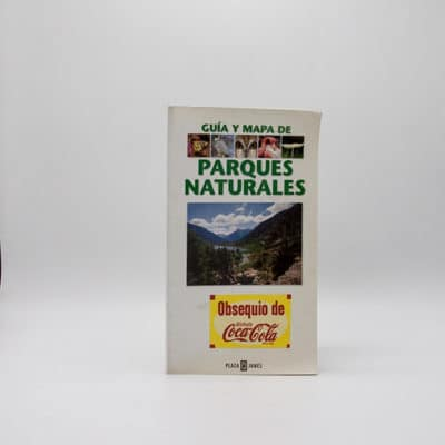 cartel libro guia mapa parques naturales portada