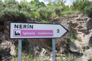 cartel nomenclátor Nerín