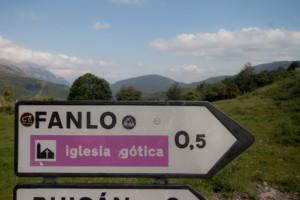 Cartel nomenclátor Fanlo
