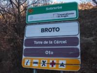 cartel nomenclátor Broto