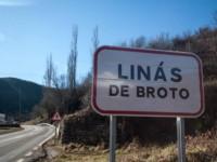 cartel nomenclátor Linás de Broto