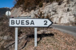 cartel nomenclátor Buesa