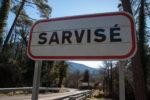 cartel nomenclátor Sarvisé