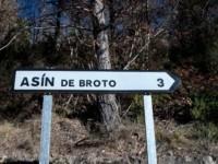 cartel nomenclátor Asín de Broto