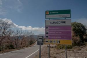 cartel nomenclátor Almazorre